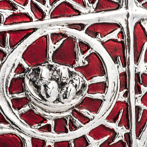 Tabernacle d'autel bois porte en laiton fondu pain 3