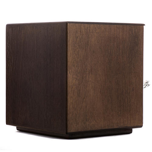 Tabernacle d'autel bois porte en laiton fondu pain 6