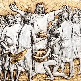 Tabernacle d'autel résurrection bois porte laiton s2