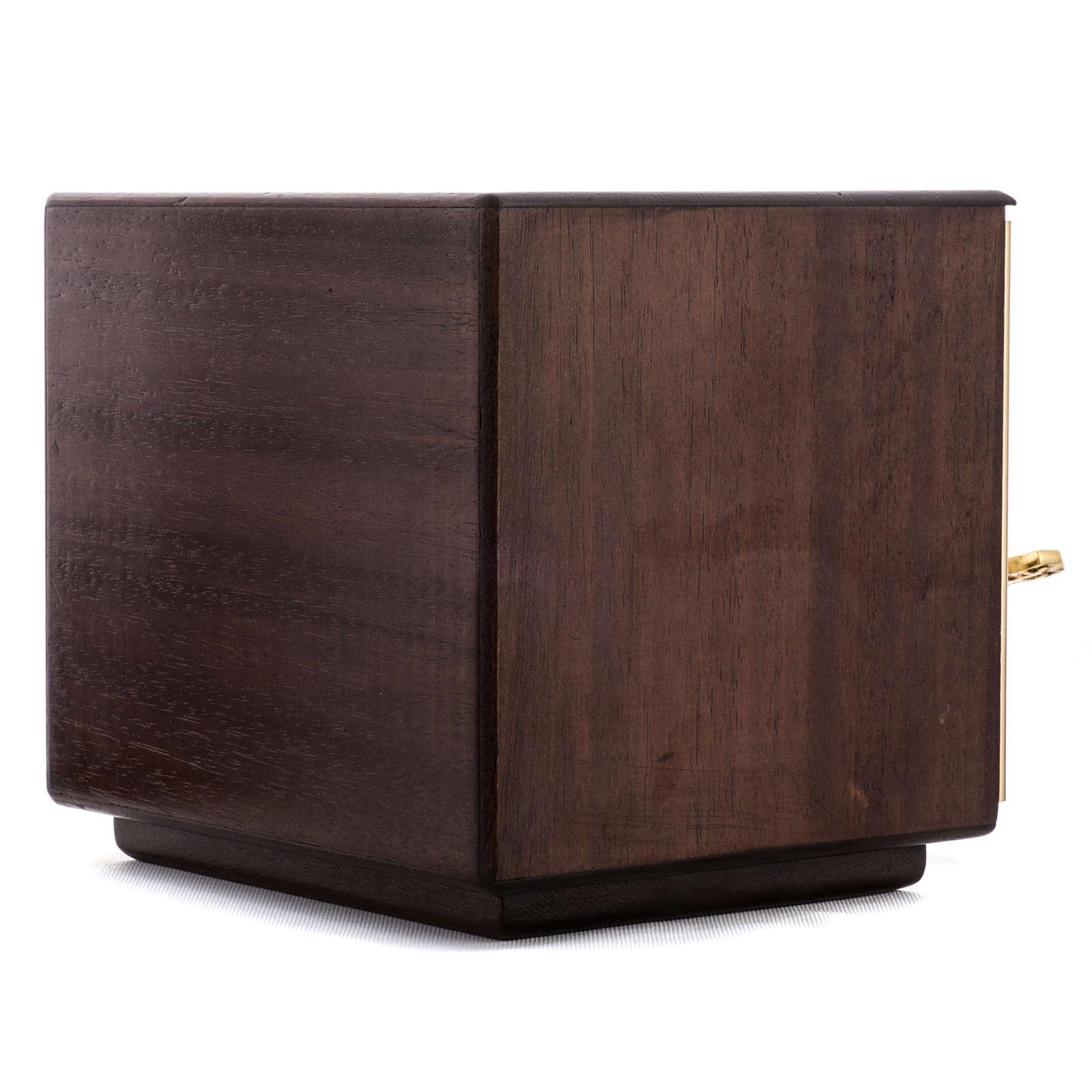 Tabernacolo mensa Moltiplicazione Pani legno ottone 4