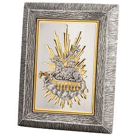 Wall Tabernacle with Lamb of God in bronze and brass s1