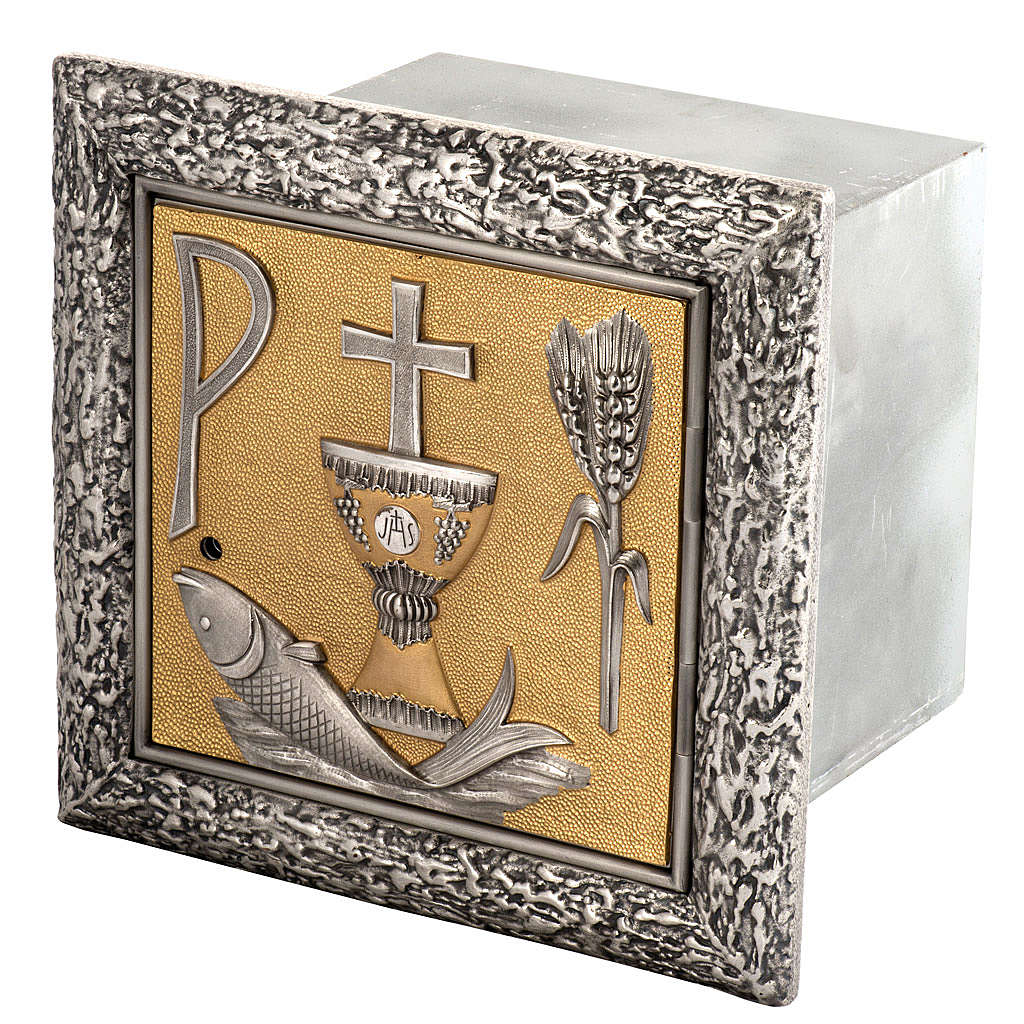 Wall Tabernacle with fish, chalice, ear of wheat and cross 4