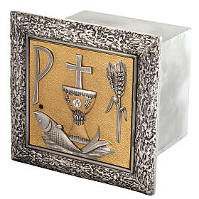 Wall Tabernacle with fish, chalice, ear of wheat and cross s1