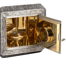 Wall Tabernacle with IHS, brass with bronze details s8