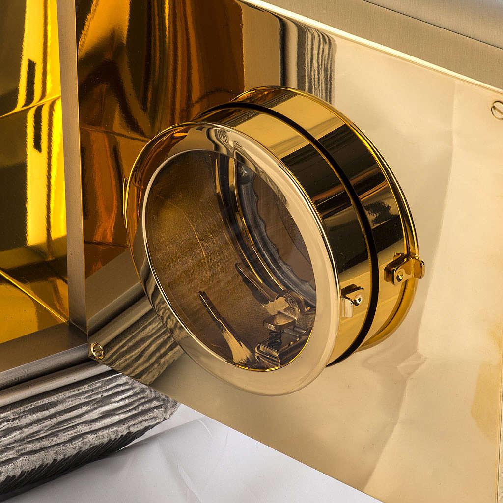 Tabernacolo IHS ottone, immagine bronzo 4