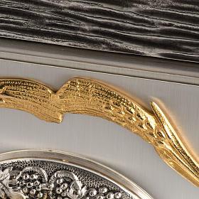 Tabernacolo IHS ottone, immagine bronzo s5