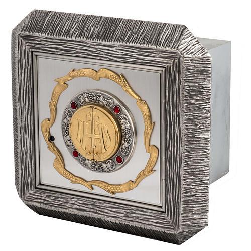 Tabernacolo IHS ottone, immagine bronzo 1