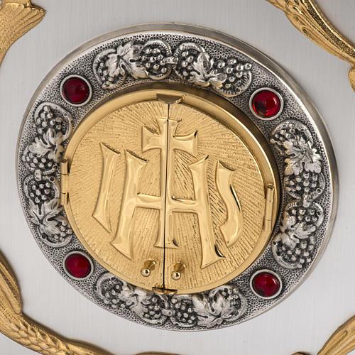 Tabernacolo IHS ottone, immagine bronzo 2