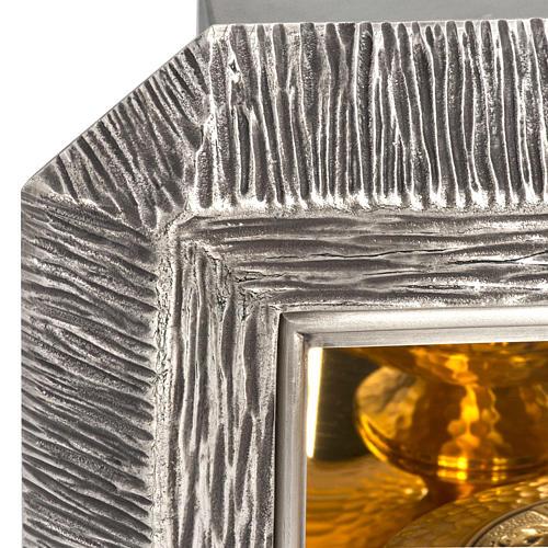 Tabernacolo IHS ottone, immagine bronzo 9