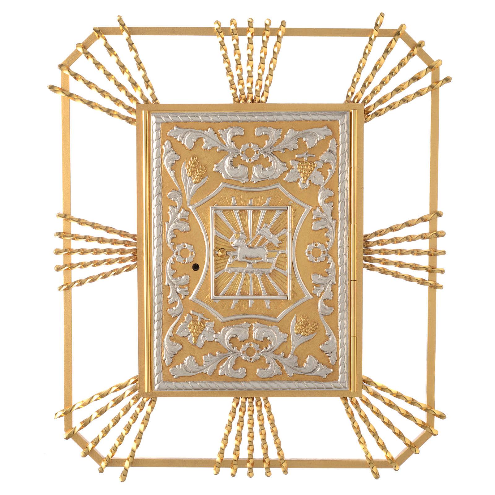 Tabernacle à accrocher avec rayons Agneau et lunule 4