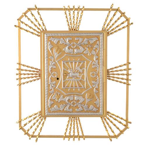 Tabernacle à accrocher avec rayons Agneau et lunule 1