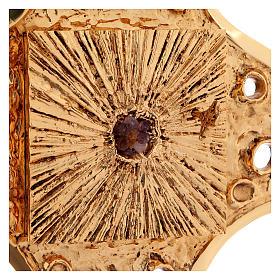 Tabernacolo parete ottone dorato fori 80x80 cm s5