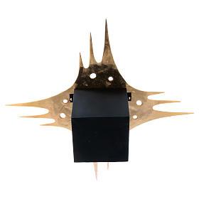 Tabernacolo parete ottone dorato fori 80x80 cm s9