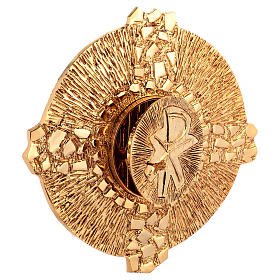 Tabernacolo da parete ottone fuso oro simbolo PAX s3