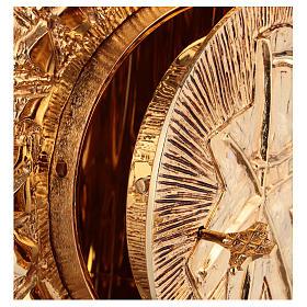 Tabernacolo da parete ottone fuso oro simbolo PAX s4