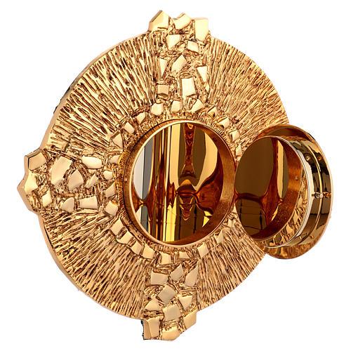 Tabernacolo da parete ottone fuso oro simbolo PAX 5