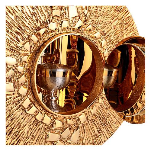 Tabernacolo da parete ottone fuso oro simbolo PAX 6