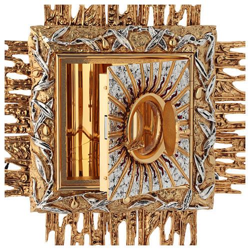 Tabernacolo da parete ottone fuso oro argento JHS 5