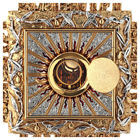 Wall tabernacle bicolor brass, JHS symbol s4