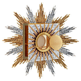 Wall tabernacle bicolor brass, JHS & rays s2