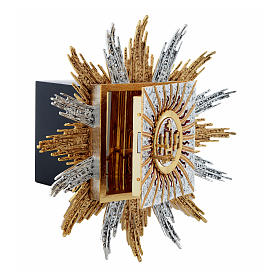 Wall tabernacle bicolor brass, JHS & rays s4