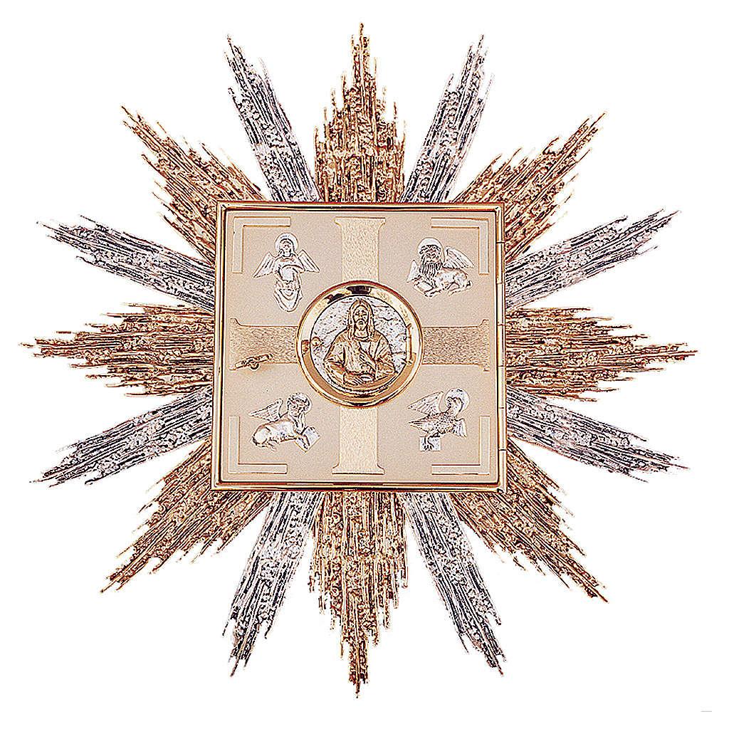 Tabernacolo da parete ottone oro argento simboli Evangelisti 4