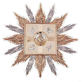 Tabernacolo da parete ottone oro argento simboli Evangelisti s1