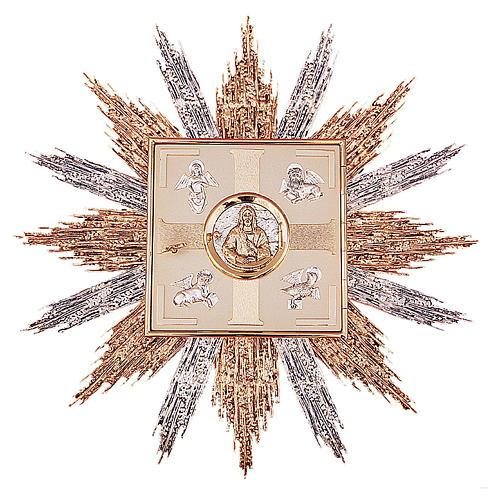 Tabernacolo da parete ottone oro argento simboli Evangelisti 1