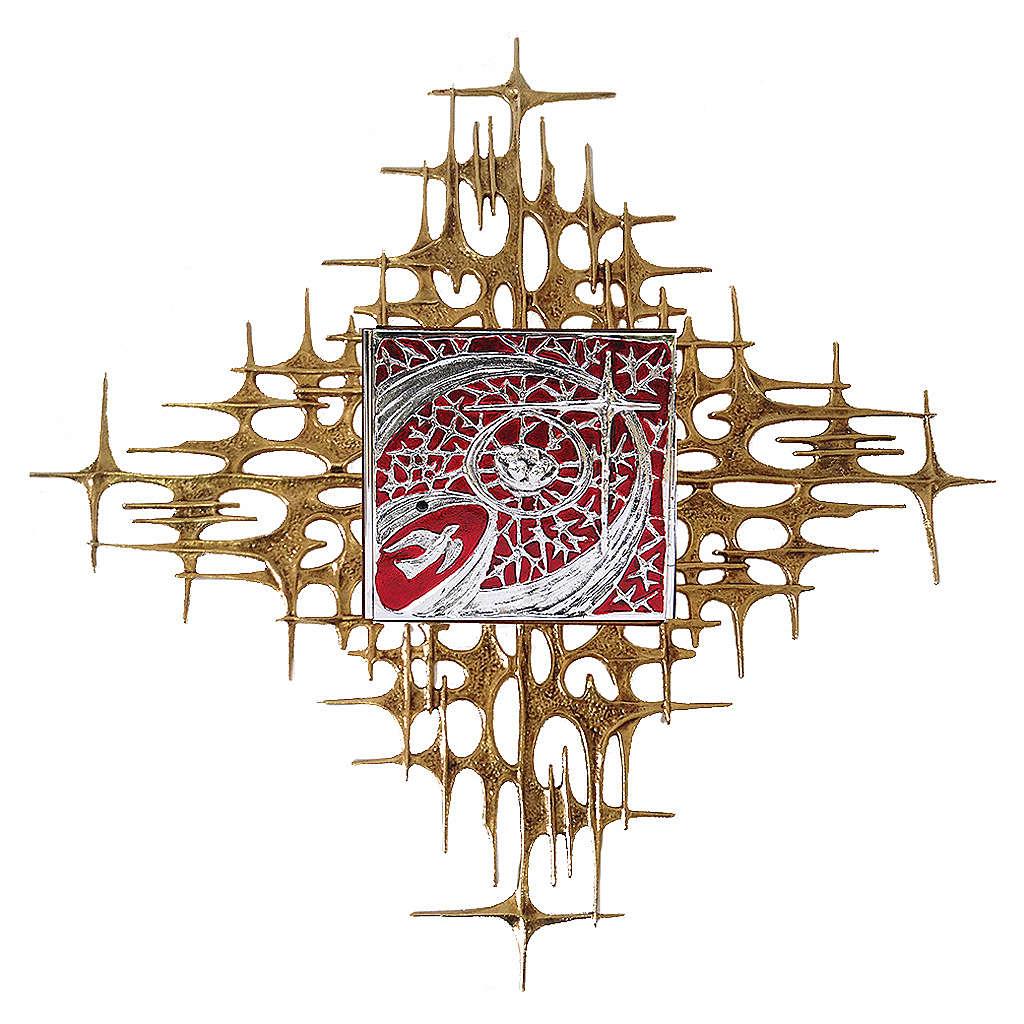 Tabernacolo da parete porta argento smalto rosso 4
