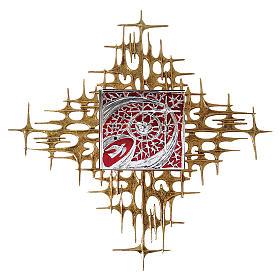 Tabernacolo da parete porta argento smalto rosso s1