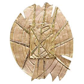 Tabernacolo ottone fuso dorato simbolo PAX s1
