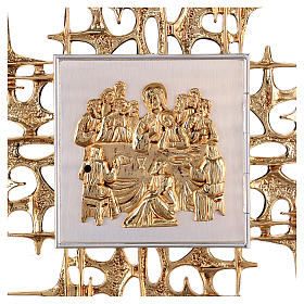 Wall tabernacle in brass with last supper s2