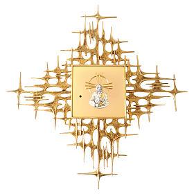 Tabernacolo da parete ottone fuso dorato Gesù s1