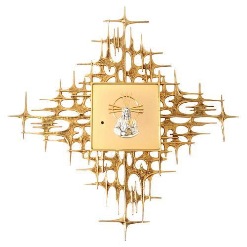 Tabernacolo da parete ottone fuso dorato Gesù 1
