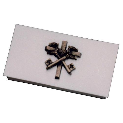 Scatola per chiavi tabernacolo ottone chiavi croce Molina 1