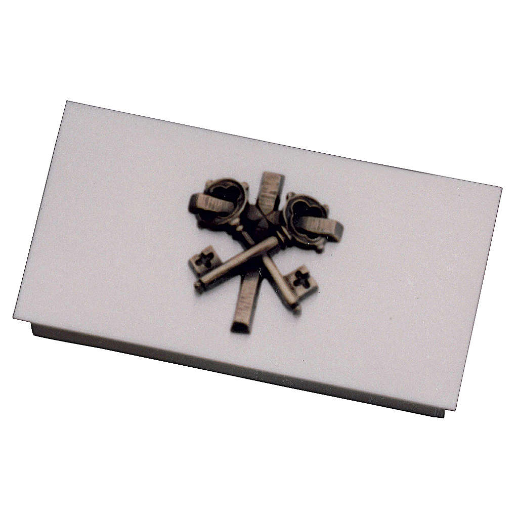 Box for tabernacle keys in golden brass with cross, Molina 4