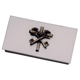 Box for tabernacle keys in golden brass with cross, Molina s1