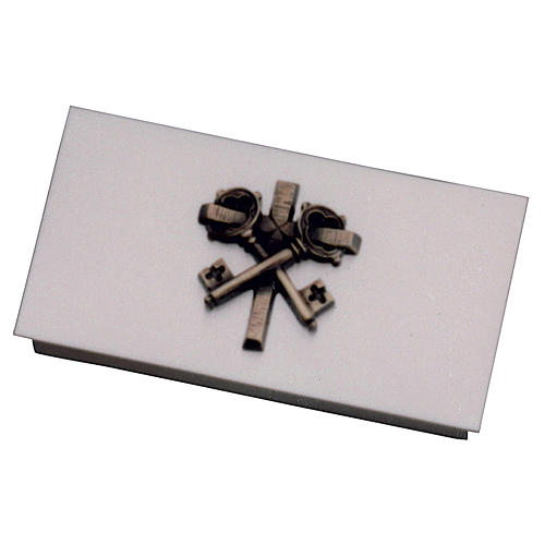 Box for tabernacle keys in golden brass with cross, Molina 1