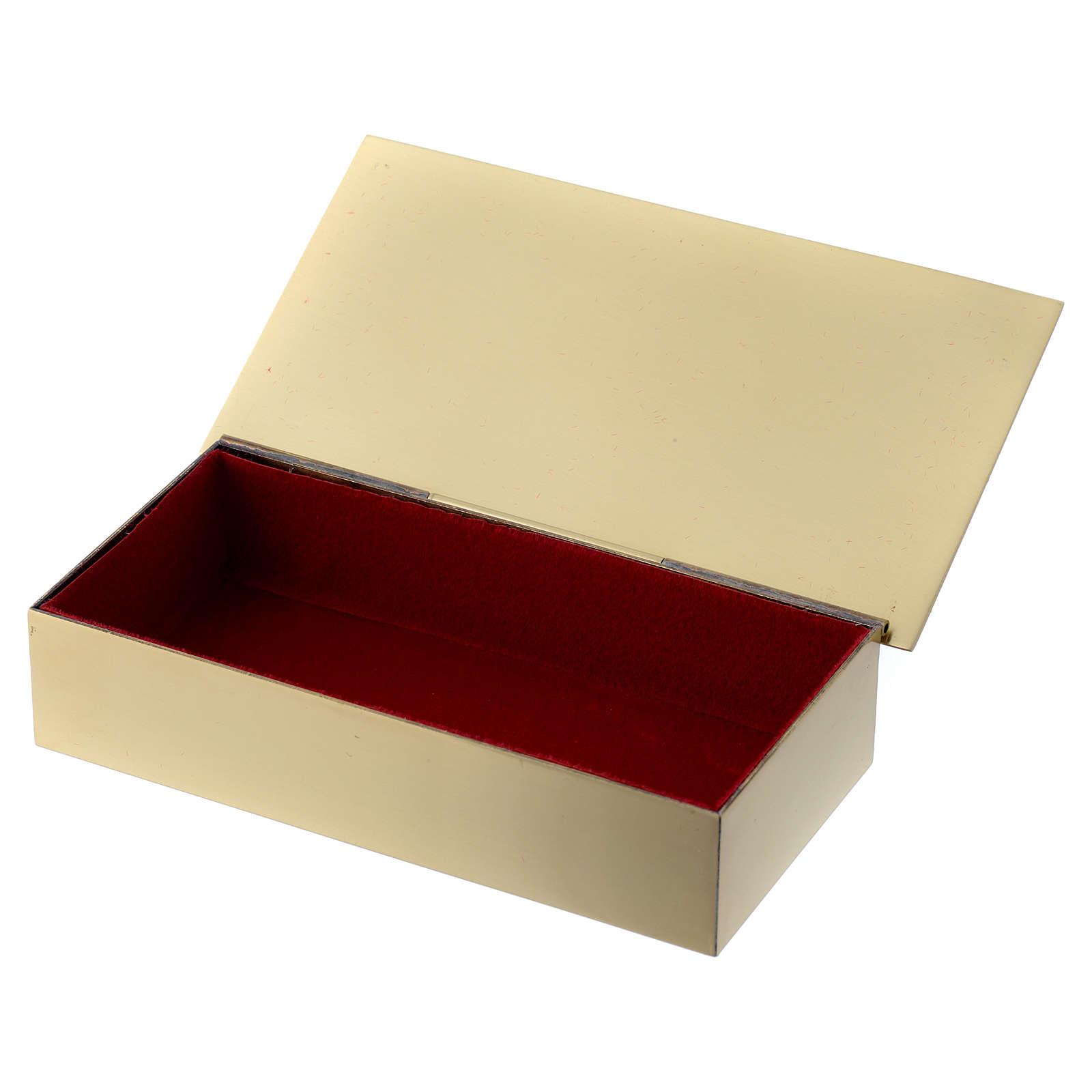 Boîte clés tabernacle en laiton poissons pain croix Molina 4