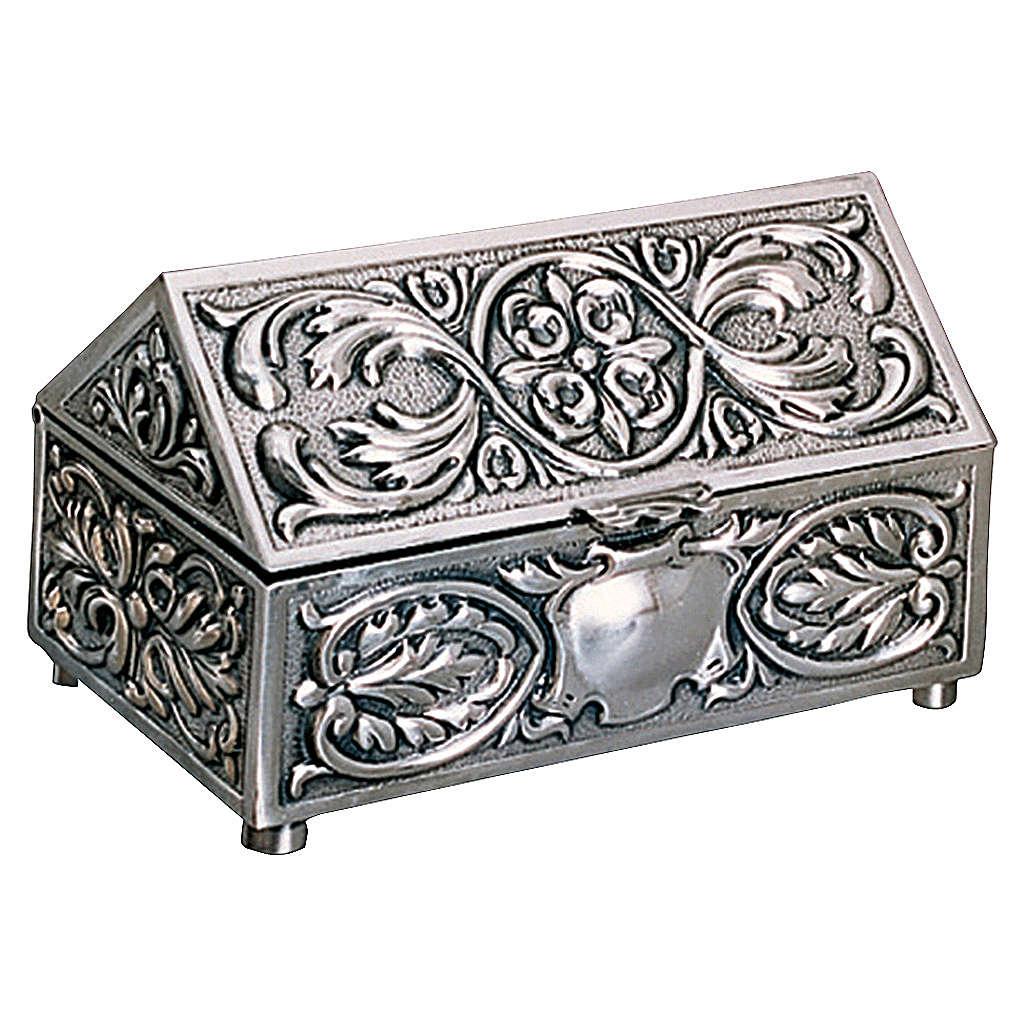 Scatola per chiavi tabernacolo ottone argentato decorazioni Molina 4