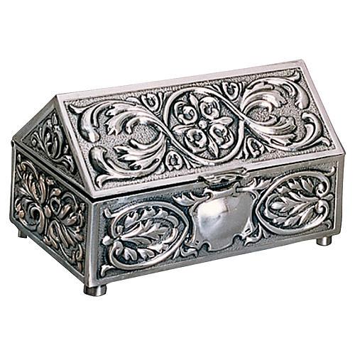 Scatola per chiavi tabernacolo ottone argentato decorazioni Molina 1