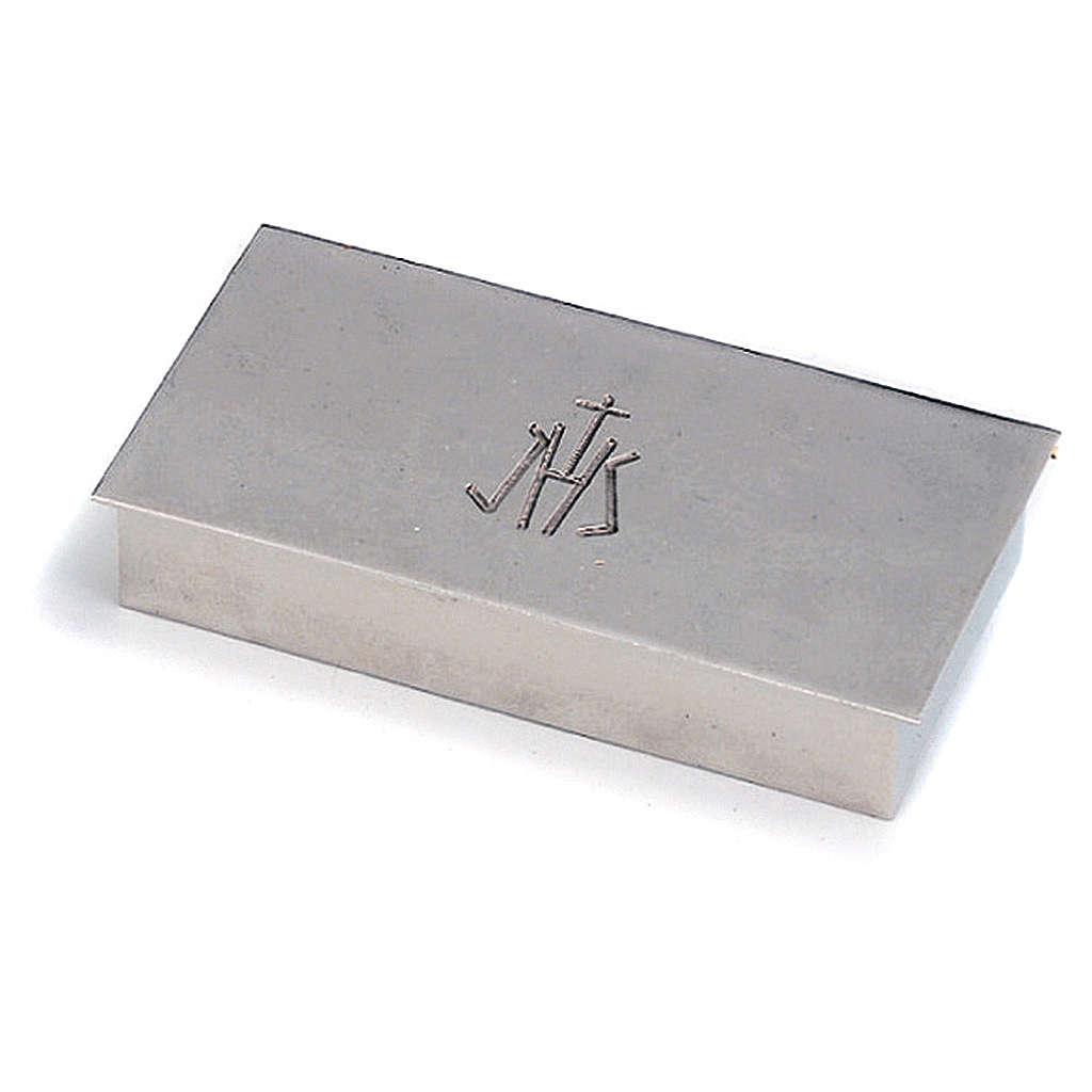 Scatola per chiavi tabernacolo ottone argentato JHS Molina 4