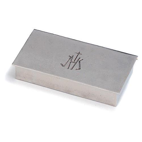 Scatola per chiavi tabernacolo ottone argentato JHS Molina 1