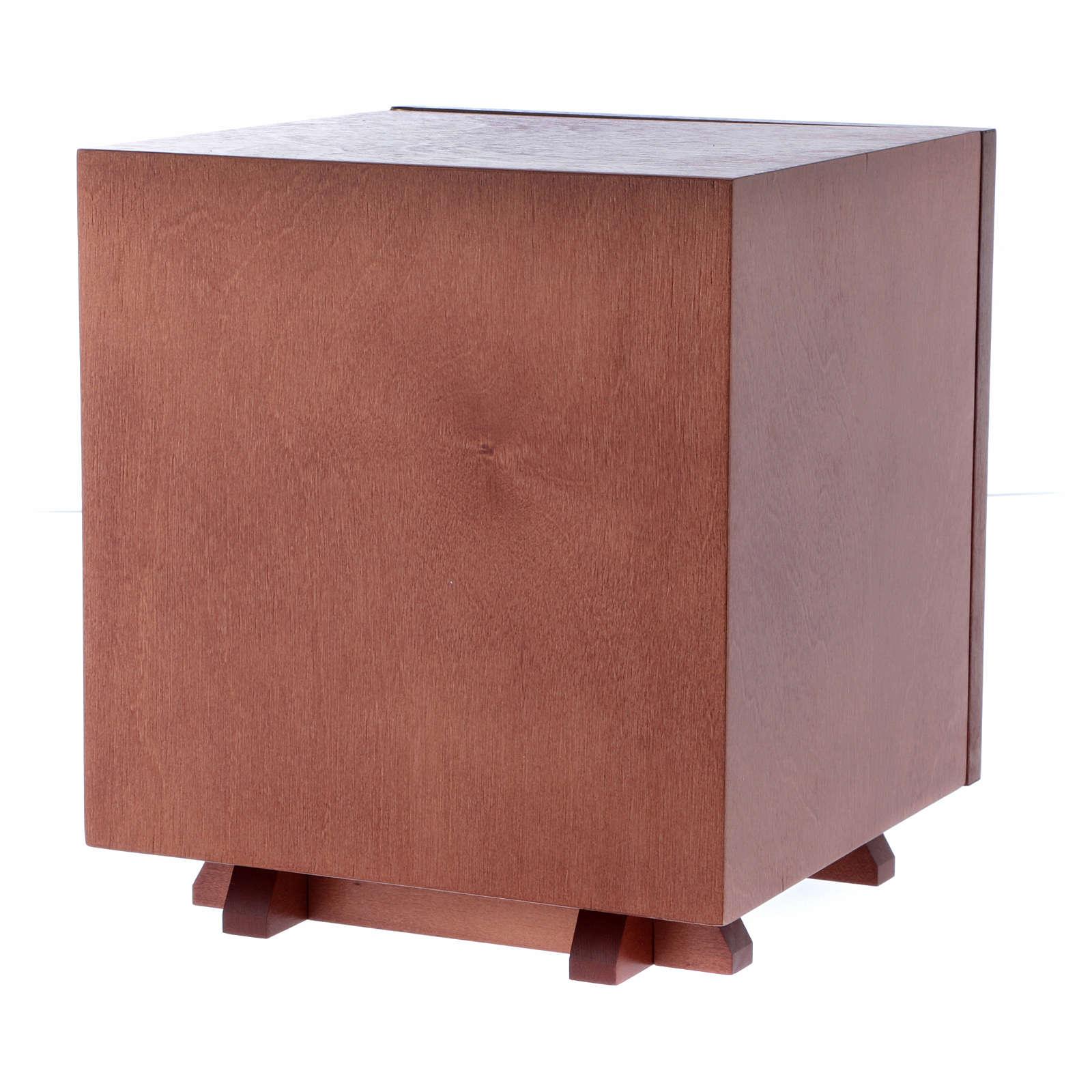 Sagrario de madera y placa aluminio JHS 20x20 cm 4