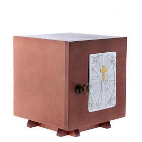 Tabernacolo in legno e placca allumino Croce IHS JHS 20X20 cm s3