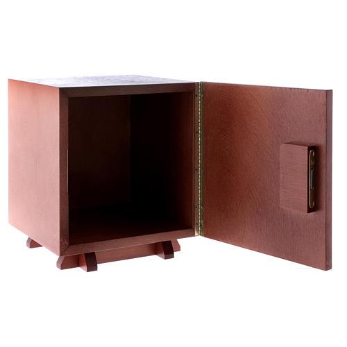 Tabernacolo in legno e placca allumino Croce IHS JHS 20X20 cm 5