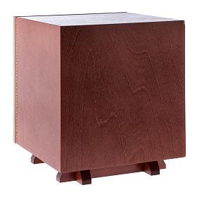 Tabernakulum z drewna i płytka z aluminium Ostatania Wieczerza 20x20 cm s4