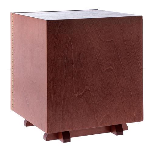 Tabernakulum z drewna i płytka z aluminium Ostatania Wieczerza 20x20 cm 4