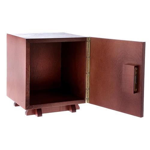 Tabernakulum z drewna i płytka z aluminium Ostatania Wieczerza 20x20 cm 5