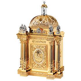 Tabernacolo Molina stile Barocco Quattro Evangelisti ottone dorato 127x76x63,5 cm s1